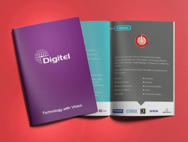 Digitel Smart Home Automation Systems – Brochure Print & Design