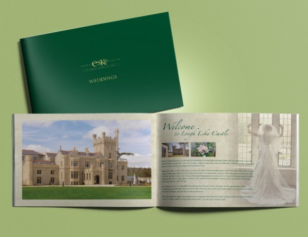 Lough Eske wedding Brochure Print & Design
