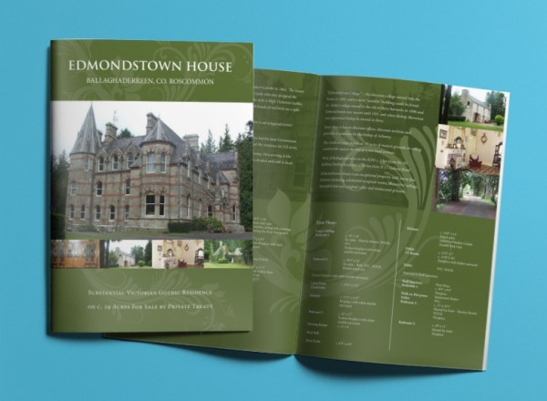 Edmondstown House Brochure Design and Print