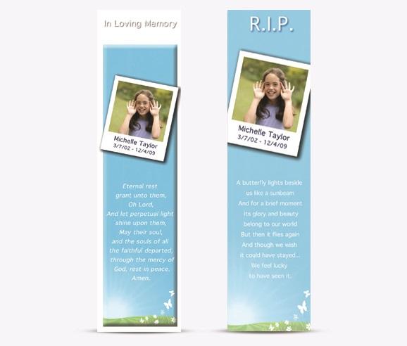 memorial bookmarkers