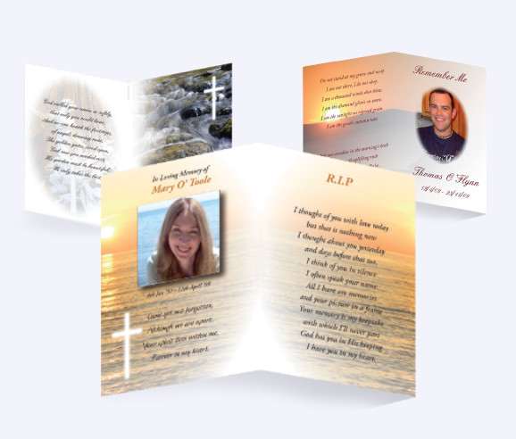 Traditional Memorial Cards